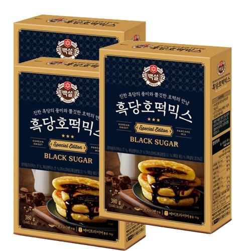 따끈따끈한 겨울간식~ CJ 백설 찹쌀호떡믹스, 3개, 400g