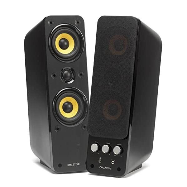 Creative GigaWorks T40 Series II - 2.0 Speaker System (Hi-Fi Stereo/AUX-IN Line-IN/16W RMS) Black, Single