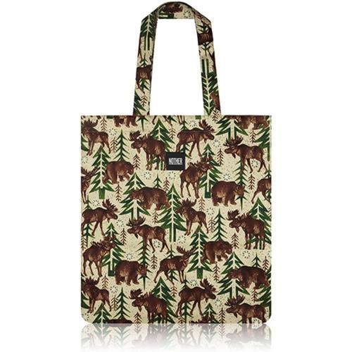 [바보사랑]nother Moose and Bear Flat Tote Bag