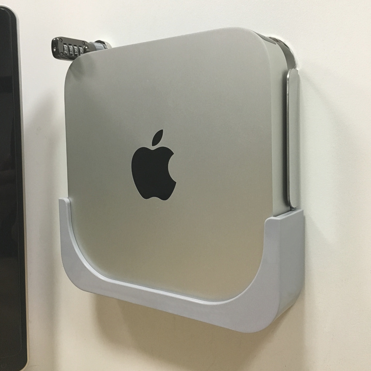M1 신제품 신상 MacMini 미니 PC 암호 방범도난방지 벽걸이 거치대 세로 메탈, 상세내용참조