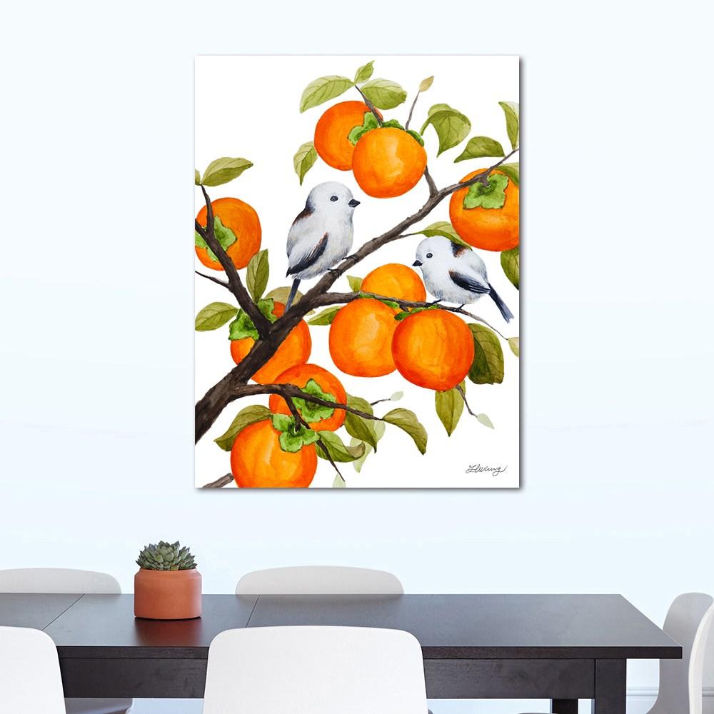 나봄갤러리 감나무와 오목눈이 감그림 감나무그림 액자, 5.캔버스 액자