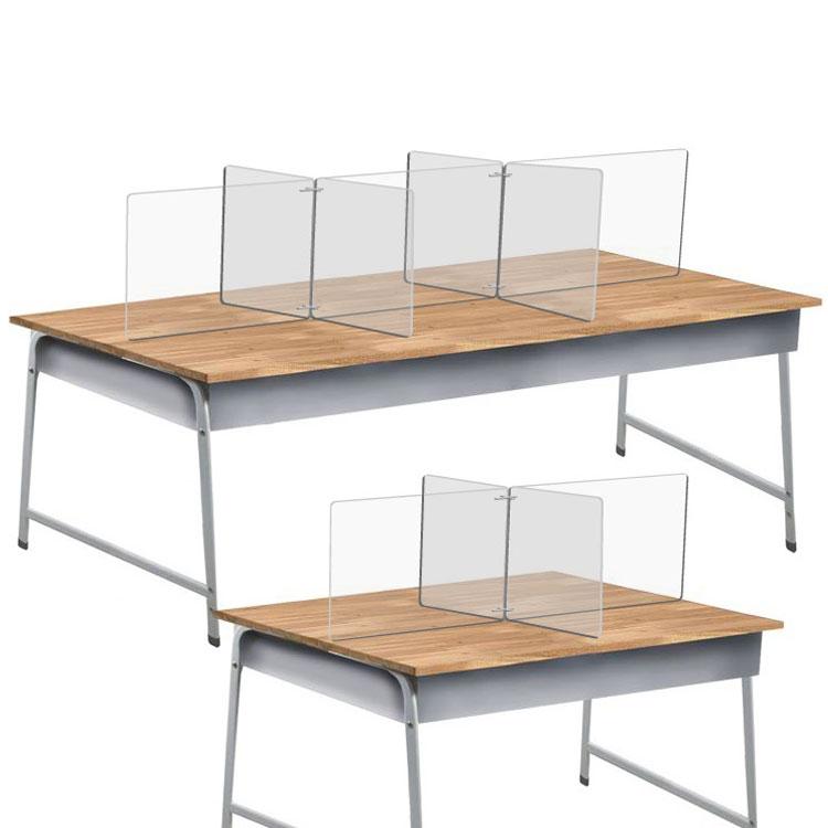 투명 가림막 가림판 책상 칸막이 아크릴 4인 6인 국산, 4인용십자형칸막이가2나2X2