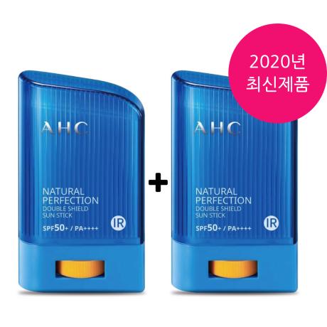 A.H.C 2020년 리뉴얼 퍼펙션 더블쉴드 썬스틱(파란색), 2개, 22g-21-1399229235
