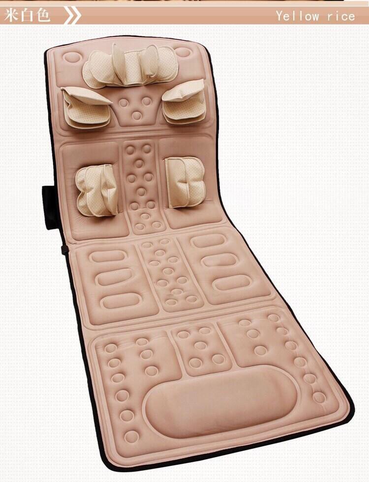 어깨안마기 4D안마 침대매트리스 주무름 진동 발열 안마 의자매트 안마기 경부 어깨 허리 노인, T02-아이보리