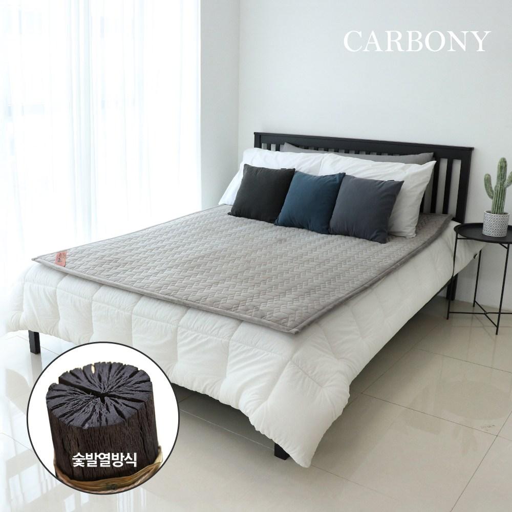 카보니 더웜 자가발열 탄소매트, 2인용, 극세사(그레이)