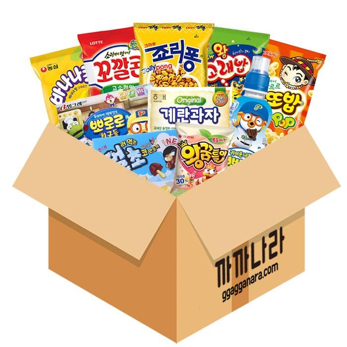 까까나라 과자간식 랜덤 럭키박스 어린이용 11p, 1box, 어린이용 럭키박스(10000)