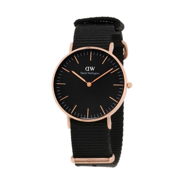 365602 / Daniel Wellington Classic Cornwall Quartz Black  Dial Unisex Watch DW00100150