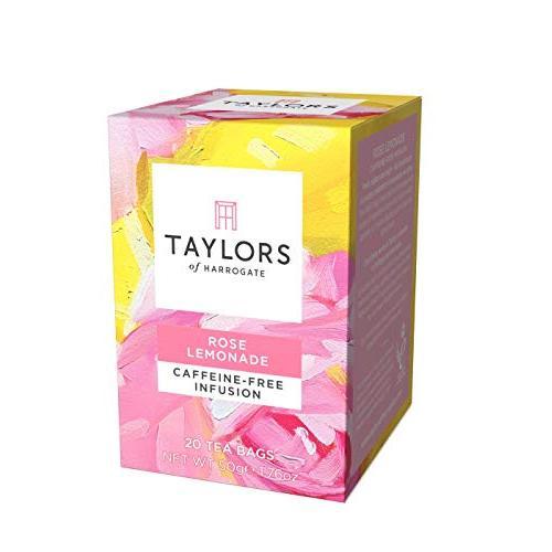 Taylors of Harrogate 로즈 레몬에이드 인퓨전 20 티백, 로즈 레몬에이드 3팩