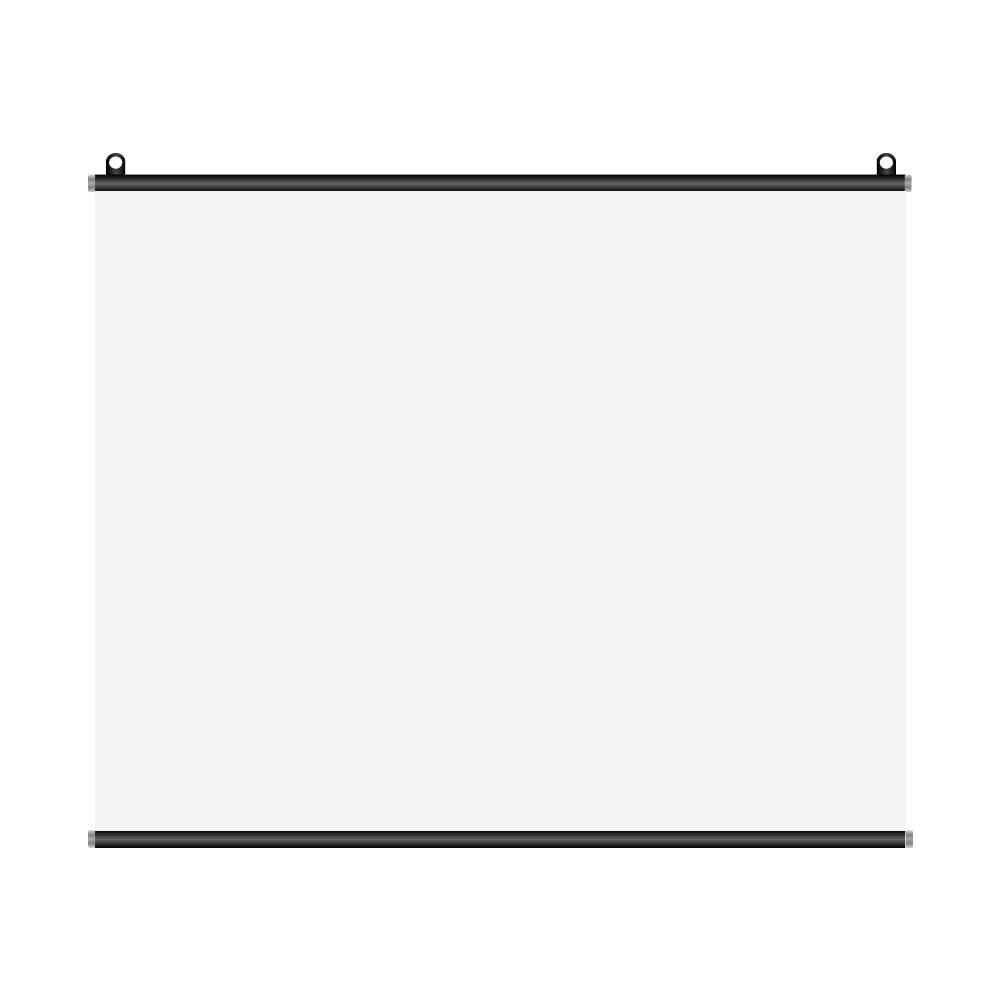 아라크네 프로젝터 빔 스크린 80인치, 시네마스크린 80인치 (가로160cm x 세로130cm) B. 족자봉 타입