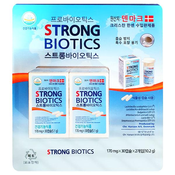 스트롱 바이오틱스 170mg X 30캡슐 X 2개입, 단품, 단품