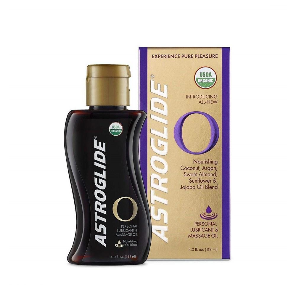 아스트로글레이드 Astroglide Lubricant Massage Oil 오가닉 에센셜 마사지 오일 118ml, 1set