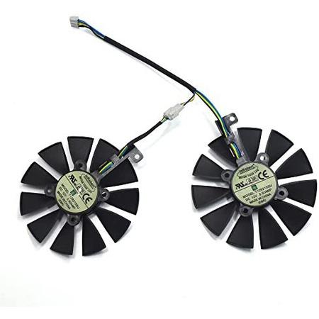 해외550022821 inRobert A Pair Cooling Fan for ASUS Dual Series GTX 1070 1060 RX 480 Graphics Card, 상세 설명 참조0