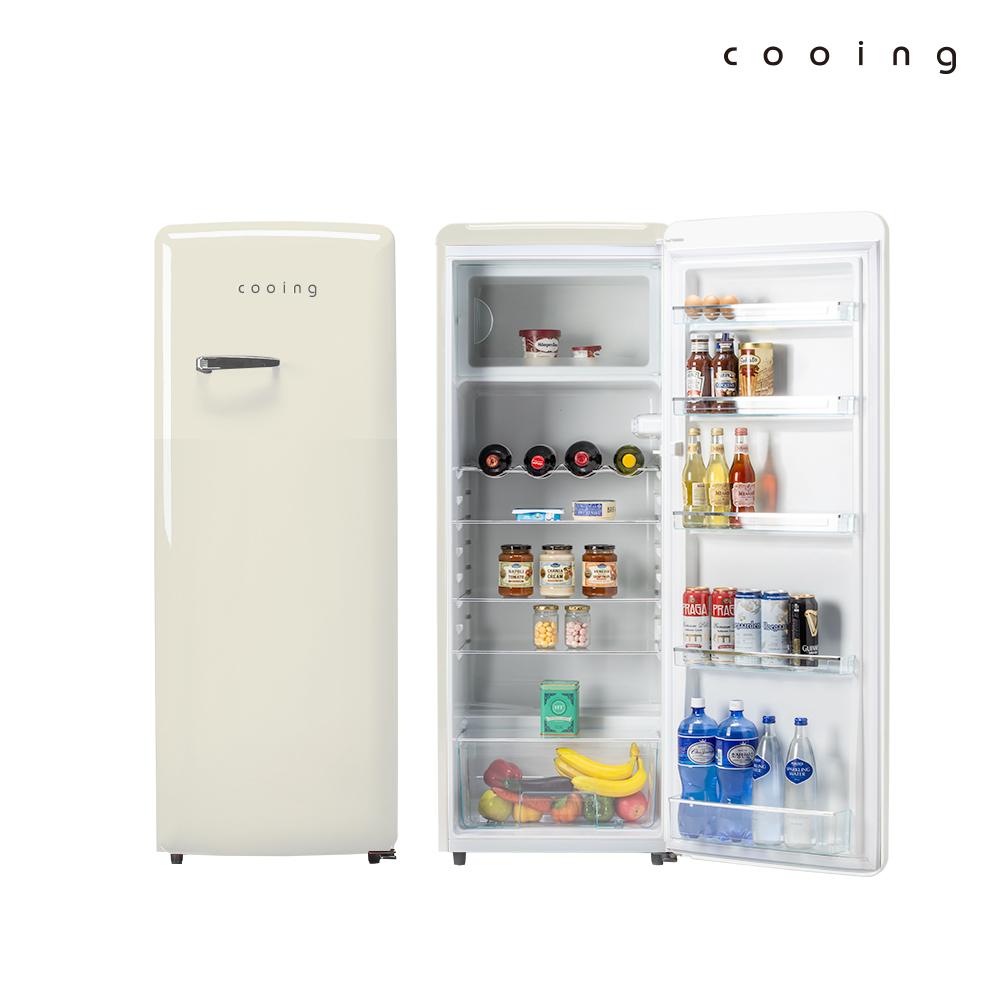 쿠잉 레트로 냉장고 REF-S240C 244L 소형/미니/원도어, 단품