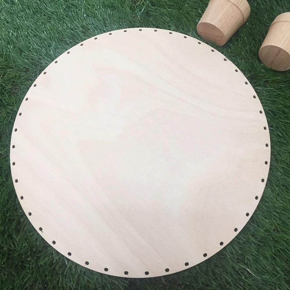 [두께UP]라탄 공예 재료 자작나무 원형 대 합판 트레이 28cm 바구니 만들기 바닥재료