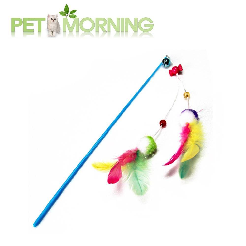 백톤 폼폼 깃털 트윈 낚시대 고양이 반려묘 장난감, 백t. 1, 백t. 본상품선택