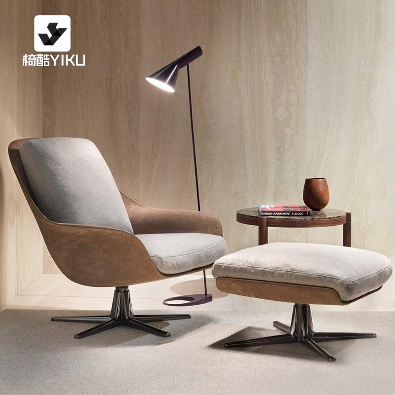 현대 북유럽 캐주얼 디자인 소파, 인조가죽+린넨마감 의자