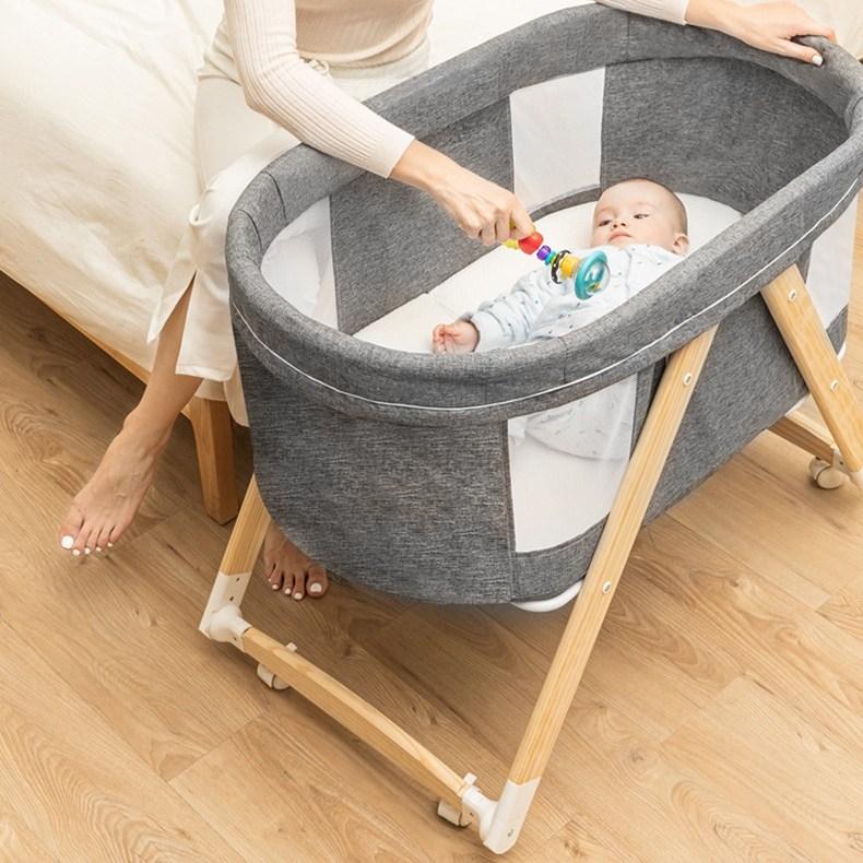 MOLY 영유아 접이식 다기능 침대 J1511, 핑크