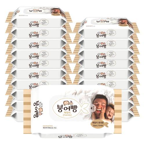 브랜드없음 붕어빵 물티슈 패밀리 휴대용 평량 60gsm 엠보 15매 20팩(10+10), 선택완료, 단품없음