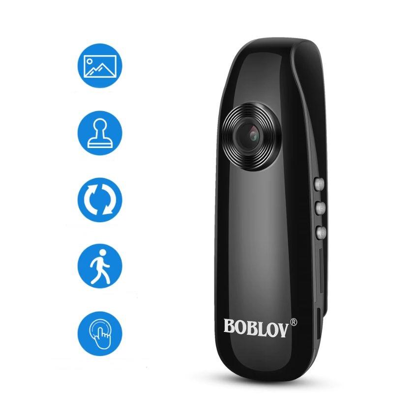BOBLOV 바디카메라 3시간연속녹화 Full HD고화질 휴대용 블랙박스 경찰 보안카메라 캠코더, 바디캠+16G