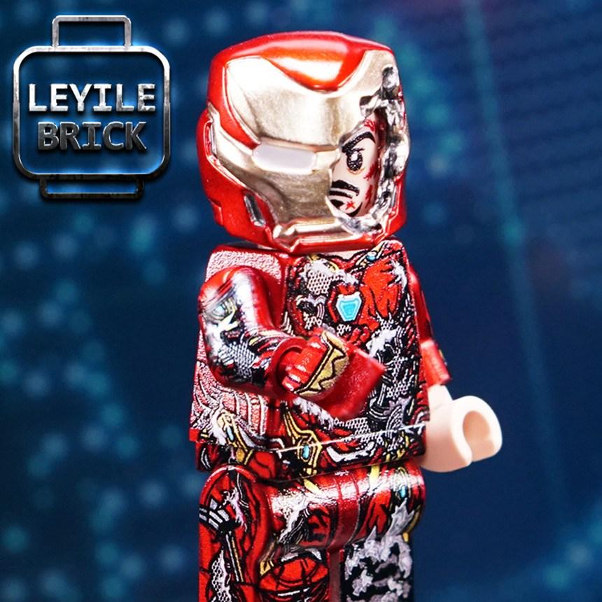LEYILE BRICK 아이언맨 MK50 데미지슈트 커스텀 레고 미니피규어 블록