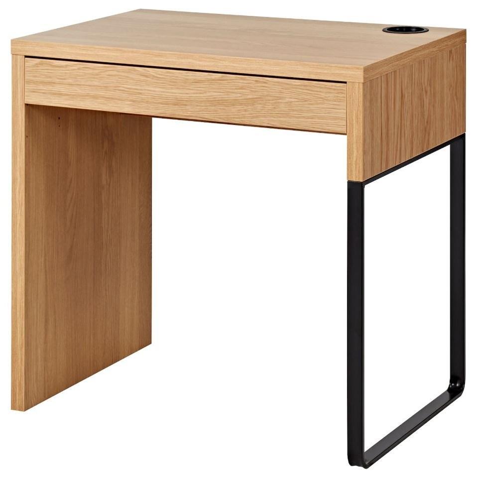 이케아 MICKE 미케 책상 참나무무늬 73x50 cm, 조립외 제품 서비스 동영상 별도 제공