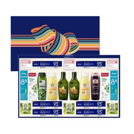 아모레퍼시픽 AP 종합 8호 바디케어 치약 선물세트 + 쇼핑백, 2세트