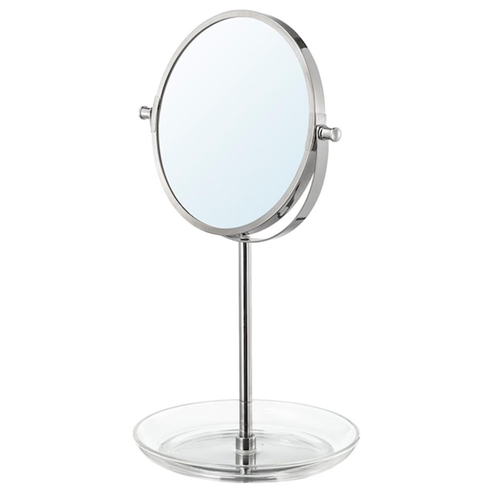 이케아 이케아 발룽엔 거울 크롬도금 21x36 cm, one