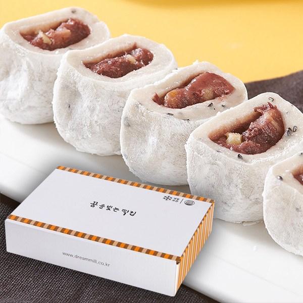 꿈빚떡집 [예쁜상자 쫄깃 맛난 찹쌀 떡 선물] 호두 팥앙금 찹쌀떡, 1팩, 600g