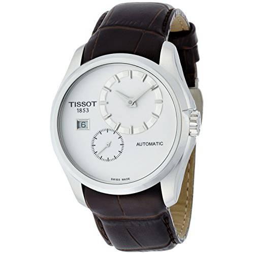 티소는 Couturier 화이트 다이얼 스테인레스 스틸 오토매틱 남성용 시계 T03