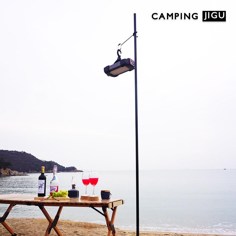 캠핑지구 캠핑 랜턴스탠드 테이블용 랜턴걸이 높이조절 백패킹 파일 드라이버, 파일드라이버