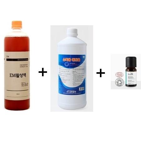 이엠그린 EM천연소독제 키트 살균제, 1세트, 2L