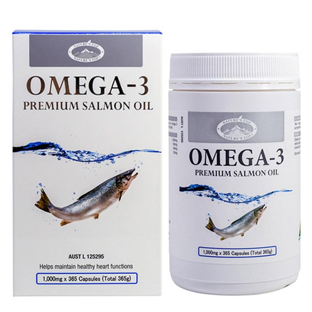 네이쳐스탑 호주 프리미엄 오메가3 365캡슐 고지혈증 혈행개선 피쉬 연어 오일 효능, 단품, 단품