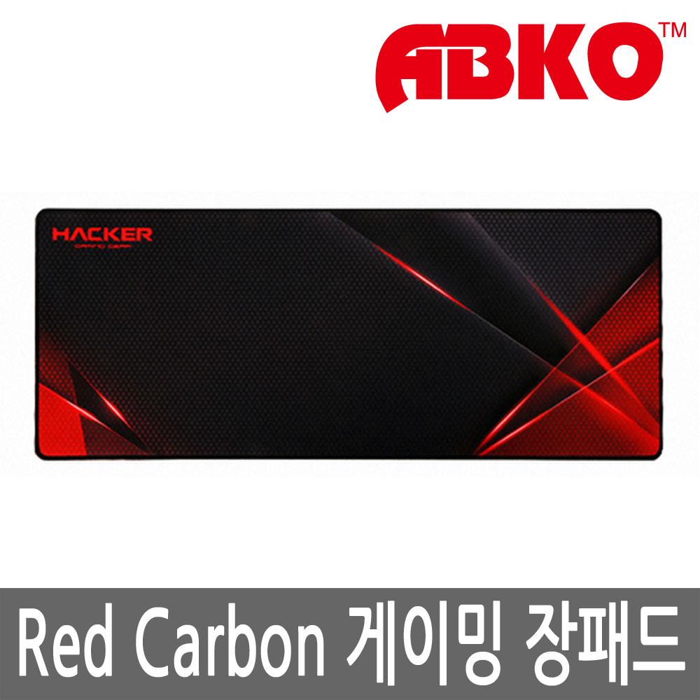 앱코 HACKER Red Carbon 게이밍 장패드 정품jr, 1개