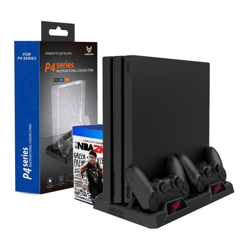 PS4 고급 무선도킹 쿨링 충전 스탠드 프로 슬림 호환 거치대, 1개, PS4 고급형 무선도킹 쿨링 충전 거치대