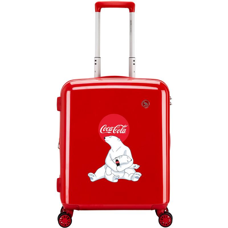 에 르 메스 (OIWAS) 코카콜라 IP 스 트 라 이 커 박스 20 인치 트 렌 디 한 남녀 트렁크 스 트 라 이 커 6546 빨간색 - 북극곰