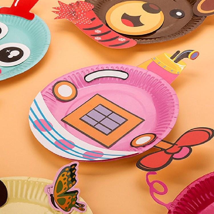 레츠토이 DIY 뚝딱뚝딱 종이접시 만들기 엄마표미술놀이, A타입+B타입