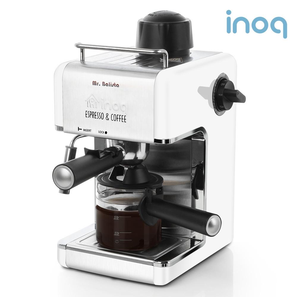 이노크아든 에스프레소 커피머신기 IA-CE1000W_화이트, 레드