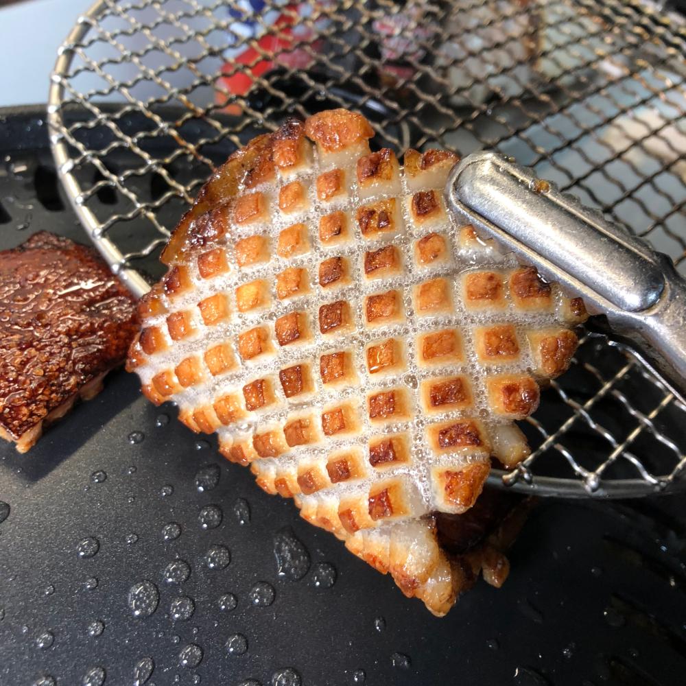 위대한껍데기 벌집 돼지껍데기 500g 3종소스포함 (갈비맛 오리지널맛), 갈비맛 1개