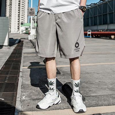 남자바지 반바지 남성패션 루즈핏 여름시즌 한세트 코디 힙합 남성캐주얼 운동 5부바지 무릎길이바지 농구 바지