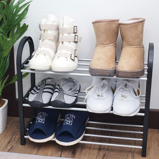 인터바겐 좁은 아파트 현관 간이 미니 철제 신발장 신발 거치대 정리대 슈즈렉 슈즈랙, 1개 (POP 290647838)