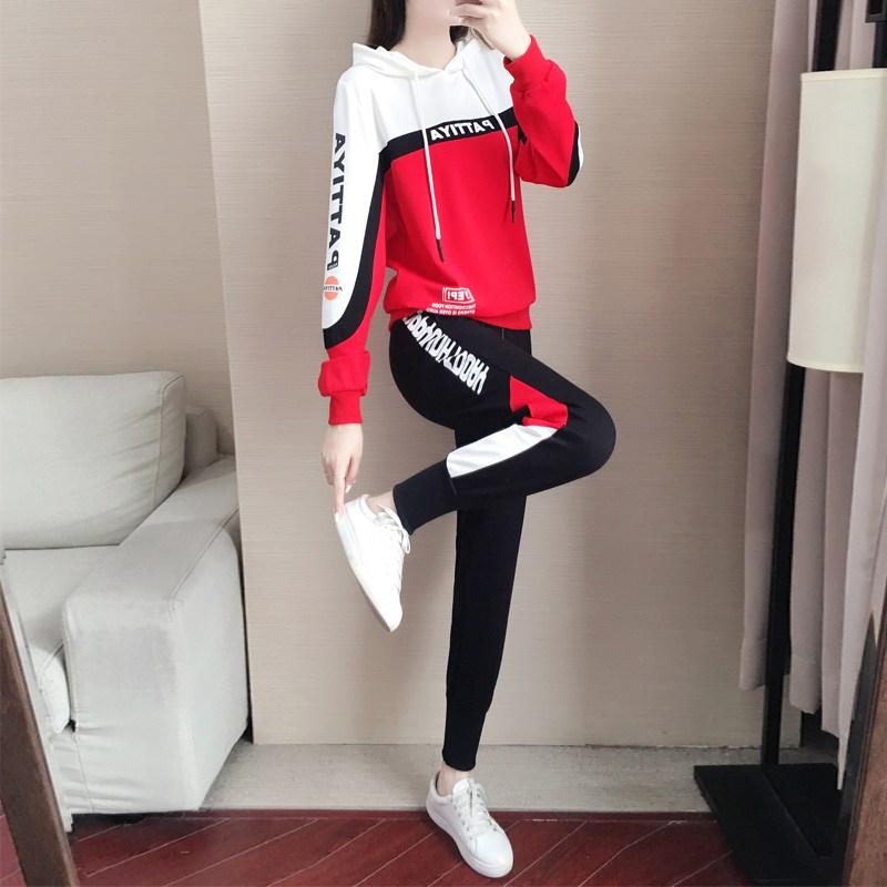 해외출고상품 트레이닝복 캐주얼 상하세트 운동복가을겨울 스포츠 및 레저 여성 봄가을 패션 가을 -40387
