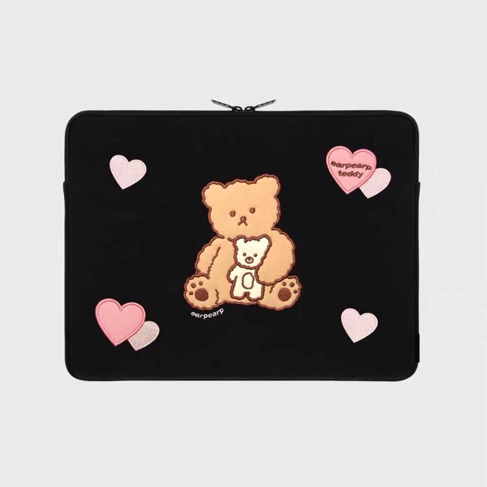 캐릭터 귀여운 파우치 귀여운 노트북가방 곰돌이 LG그램 맥북 삼성 케이스 14인치 13인치, 포디베어 내담