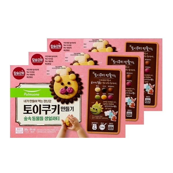 [신세계TV쇼핑][풀무원]토이쿠키만들기 (3박스) (숲속 동물들 생일파티), 단일상품, 단일상품