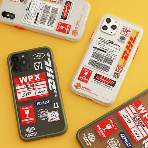 DHL 반투명 하프 하드 젤리 아이폰 케이스