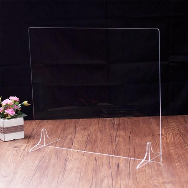 쿠대명 투명 아크릴 비말차단 가림막 칸막이 파티션 학교 도서관 식당 관공서, 2인용 표준형(60x40cm)