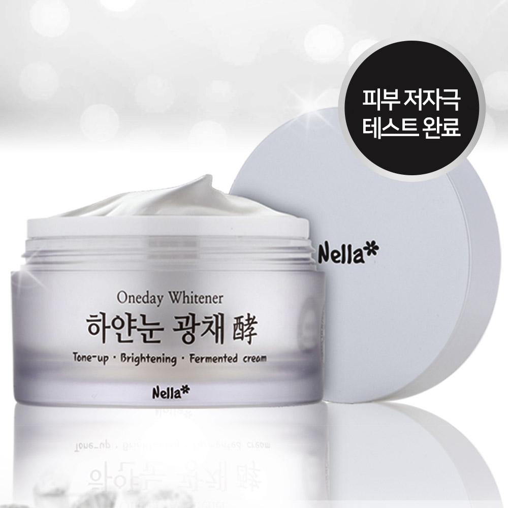 넬라 하얀눈 광채크림+하얀눈팩 화이트닝 기미 주근깨 미백, 1개, 50g