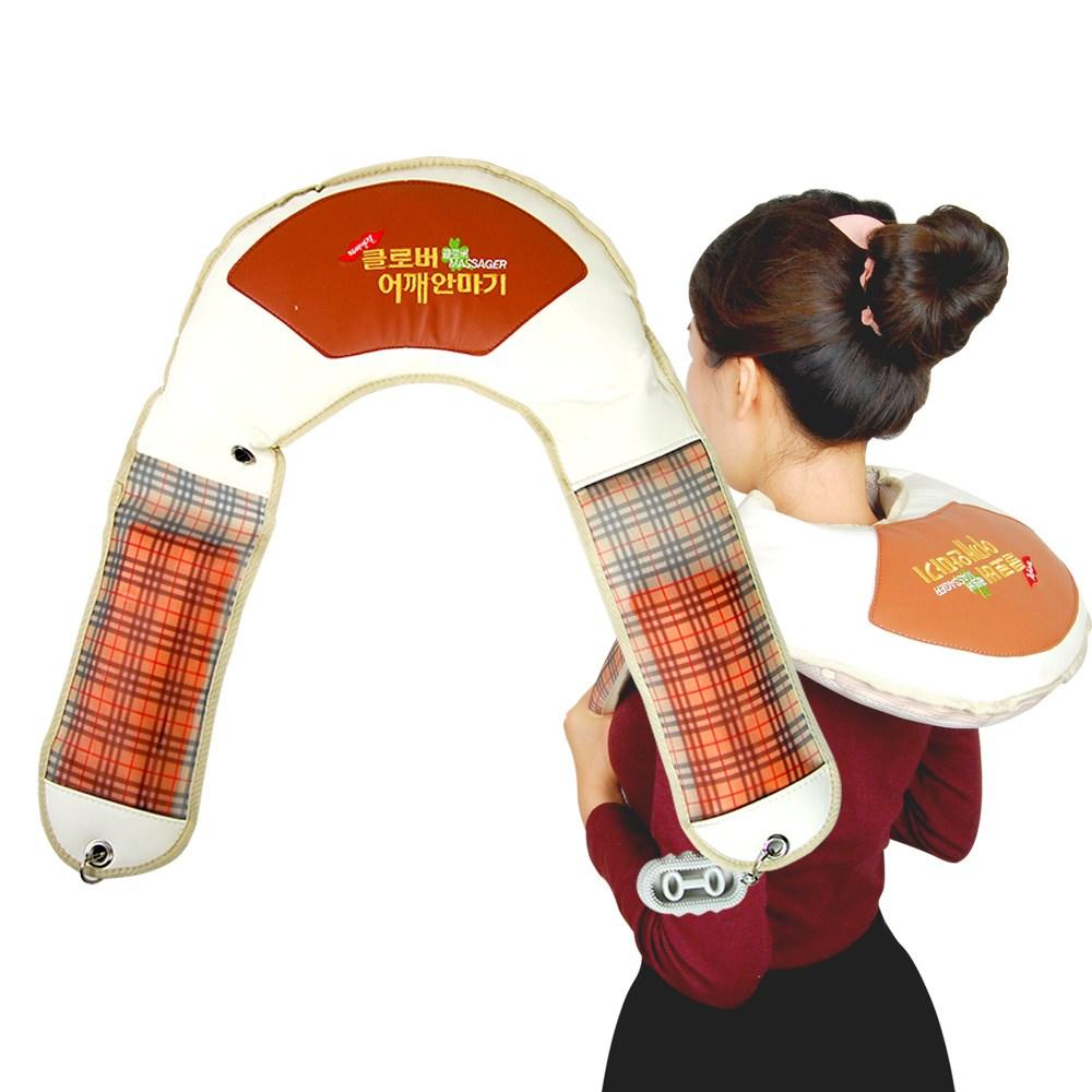 GLstar 100% 국산생산 어버이날 선물 특가 목 어께 허리 안마기 전동 마사지, 클로버 목.어깨 안마기