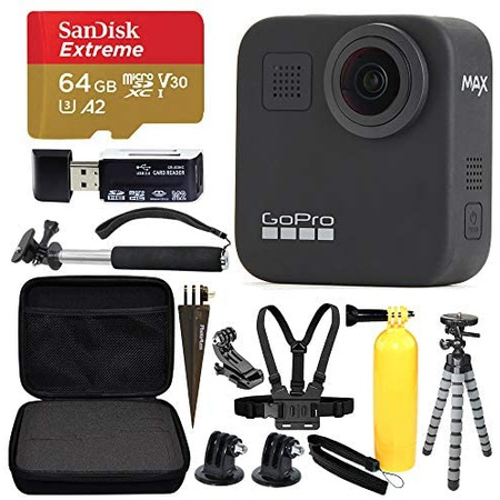 GoPro MAX 360 Sports Action Camera + SanDisk Extreme 64GB microSDXC + Top Value Bundle! PROD1110001, 상세 설명 참조0