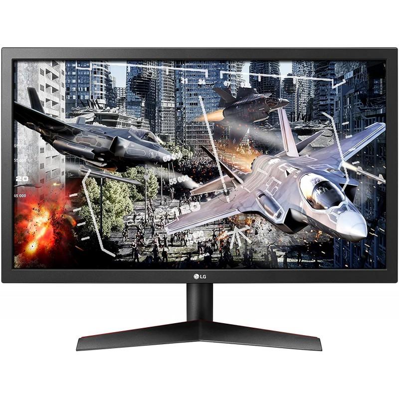 LG UltraGear 24GL600F-B Radeon FreeSync 기술이 적용된 24 인치 풀 HD 게이밍 모니터 144Hz 재생률 1, 단일상품