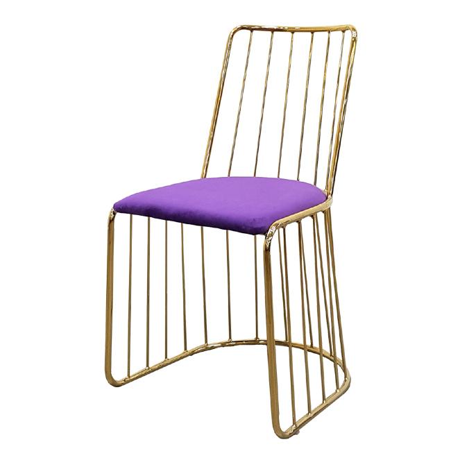 가구동네 골드 체어 예쁜 카페 인테리어 디자인 의자, 바이올렛